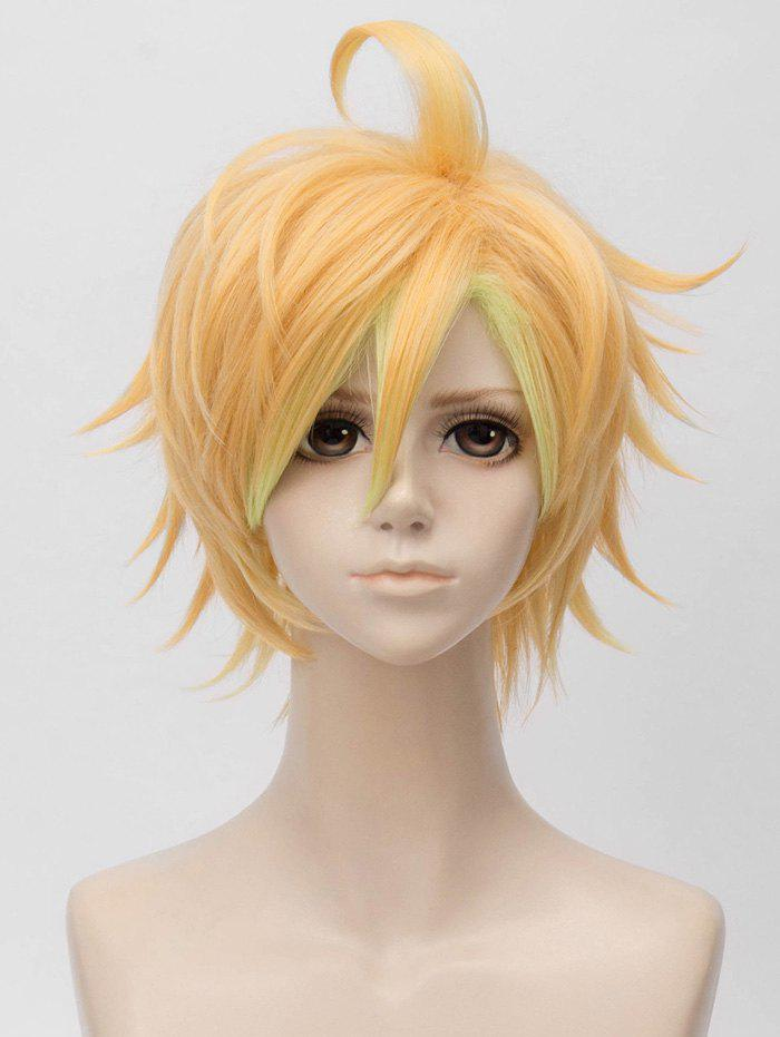 Hot Short Side Bang Tail Upwards Layer Straight Anime Cosplay Synthetic Wig