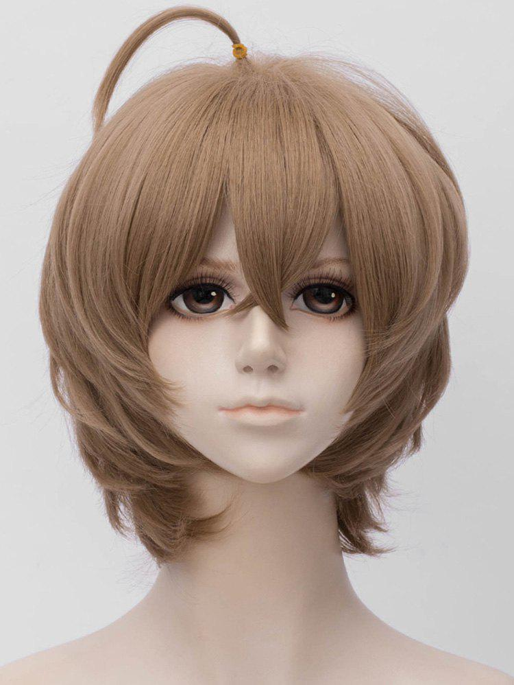 Latest Short Side Bang Tail Adduction Straight Anime Cosplay Synthetic Wig
