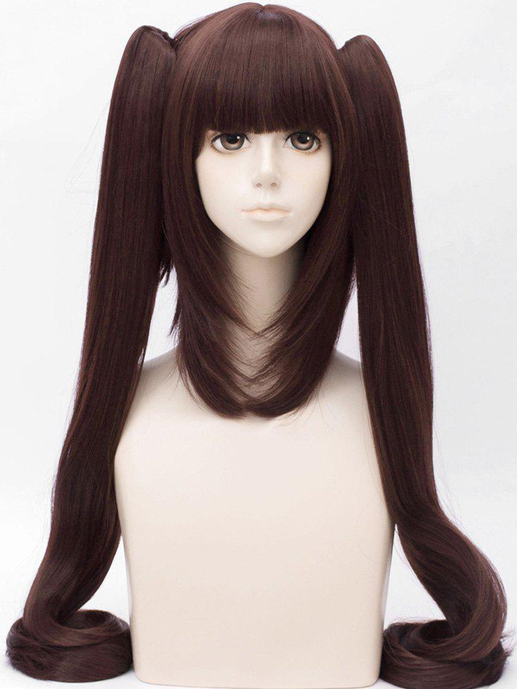 Buy Long Full Bang Two Ponytail Tail Adduction Straight Anime Cosplay Synthetic Wig