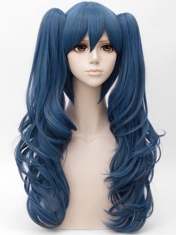 Shops Long Side Bang Two Wavy Ponytail Straight Cosplay Anime Synthetic Wig