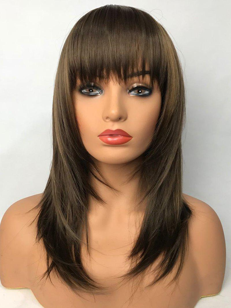 Полный Bang Long Straight Party Capless Synthetic Wig