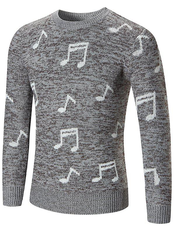 Sweat à Capuche Pull-over Notes de Musique Imprimée