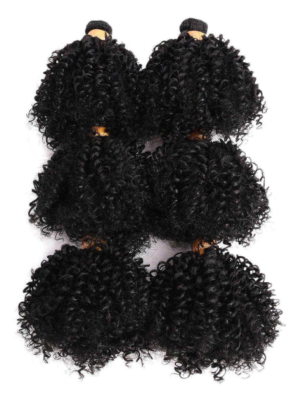 Latest Short Kinky Curly Synthetic Capless Hair Weaves