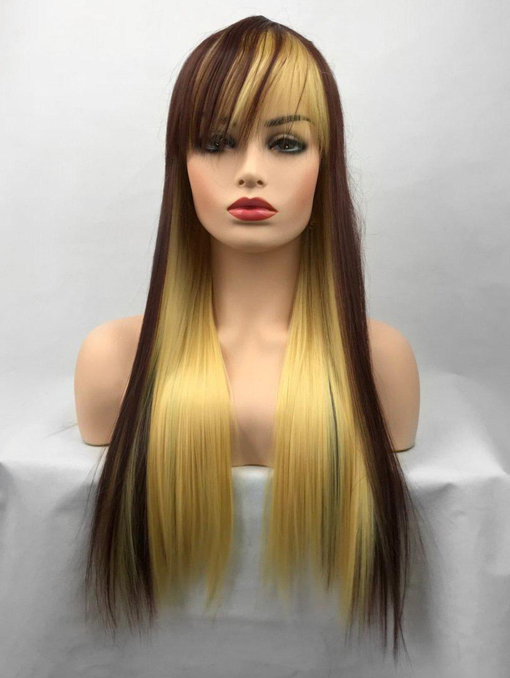 Online Long Colormix Straight Party Cosplay Synthetic Wig