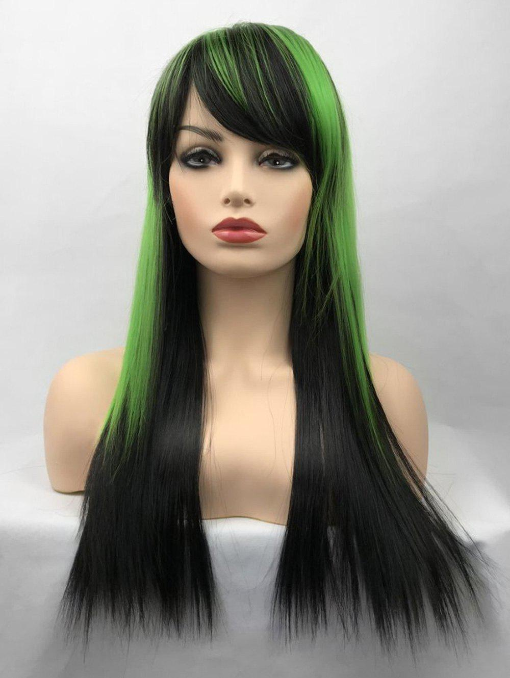 Fashion Long Side Bang Colormix Straight Party Cosplay Synthetic Wig