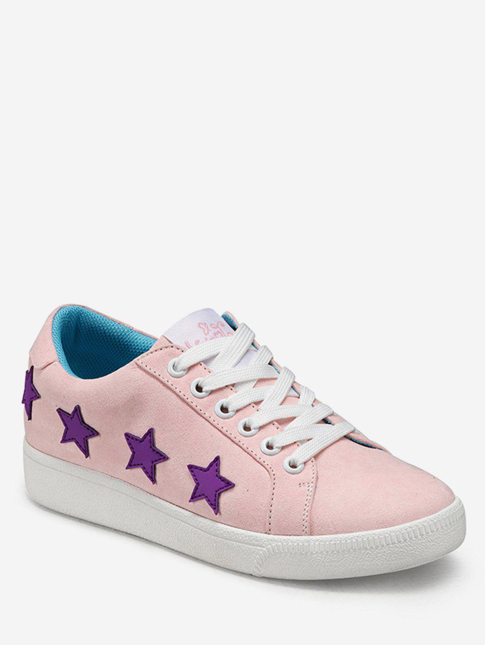 Fashion Star Applique Lacing Low Top Sneakers