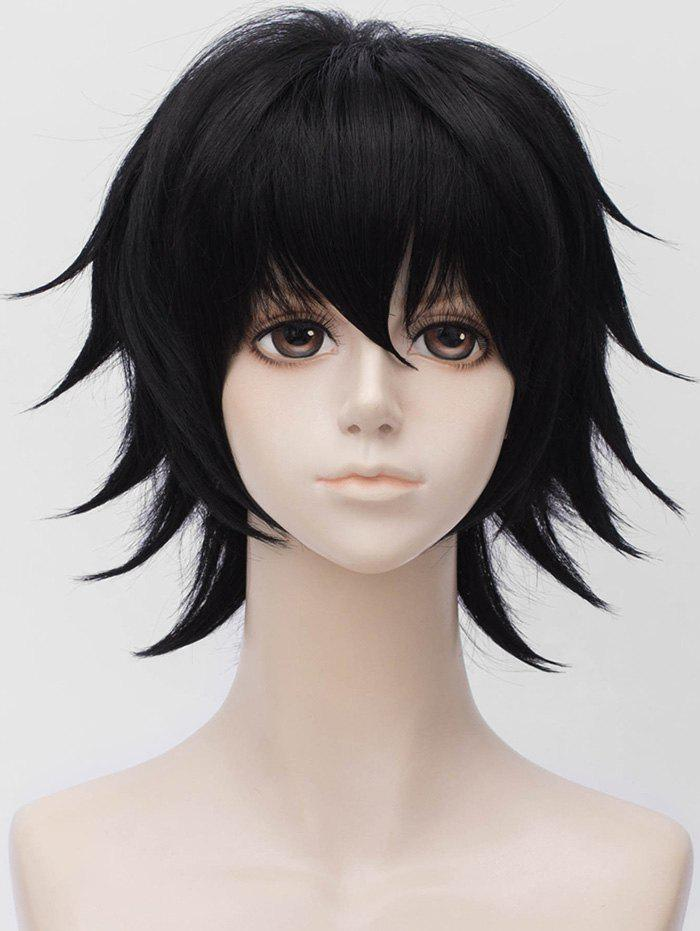 Store Anime Cosplay Short Side Bang Straight Synthetic Wig