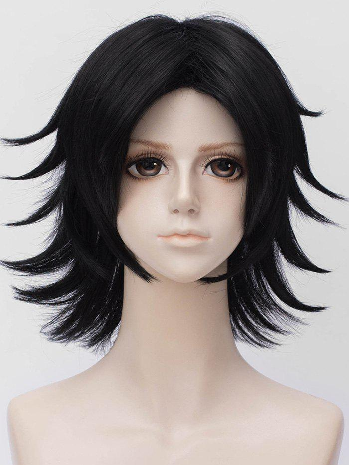 Affordable Short Layered Straight Anime Cosplay Synthetic Wig