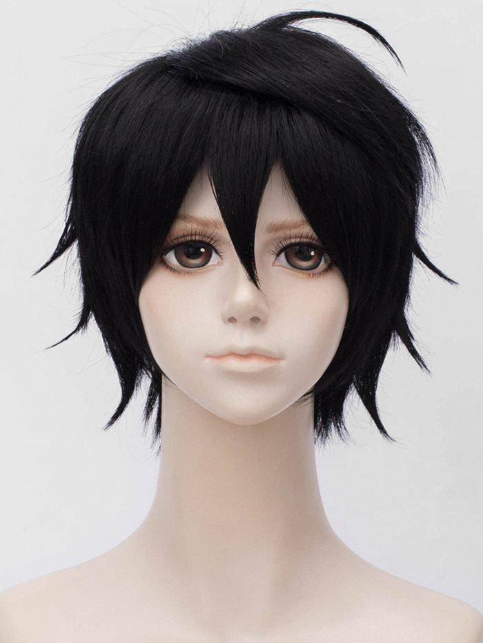 Hot Short Inclined Bang Straight Anime Cosplay Synthetic Wig