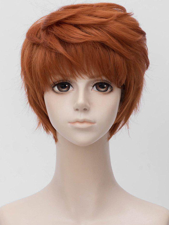 Sale Anime Cosplay Short Side Bang Layer Straight Synthetic Wig