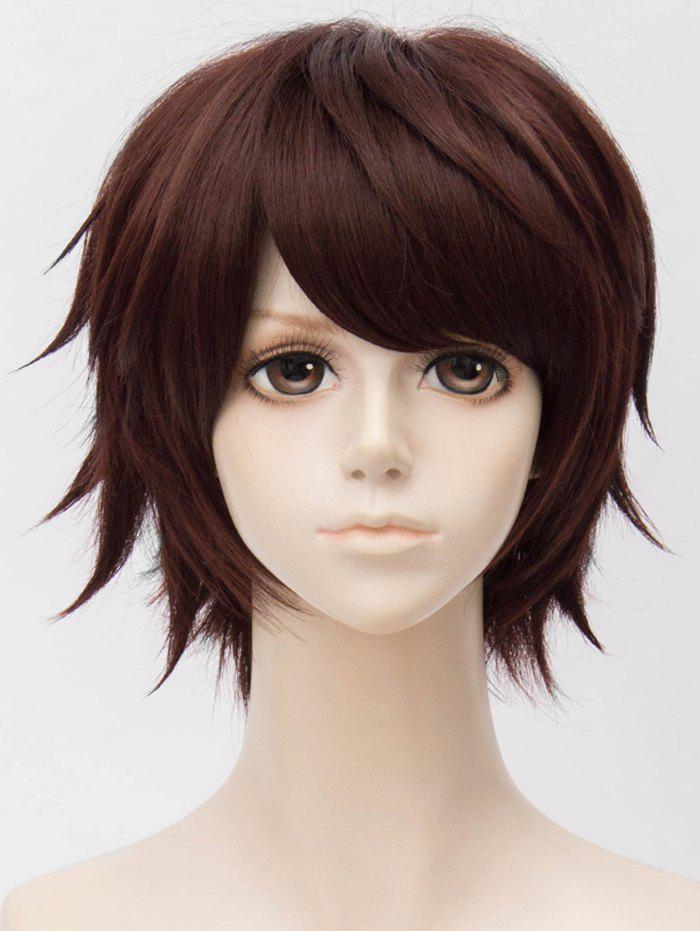 Cheap Short Side Bang Layer Straight Anime Cosplay Synthetic Wig