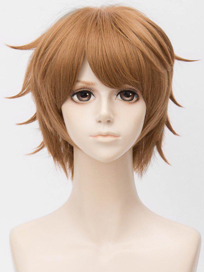 Fancy Short Side Bang Layer Straight Anime Cosplay Synthetic Wig