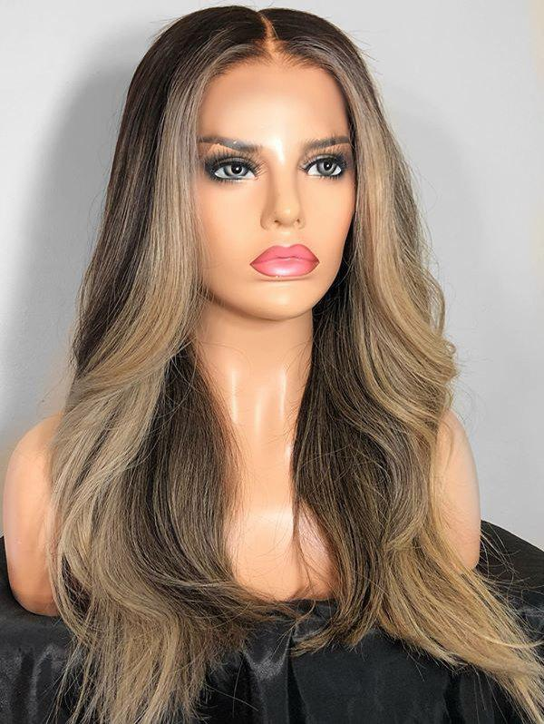 Shops Middle Part Long Colormix Straight Party Synthetic Wig