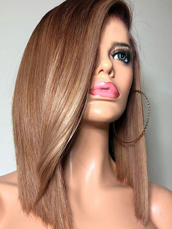 Fancy Medium Ombre Side Parting Straight Synthetic Wig