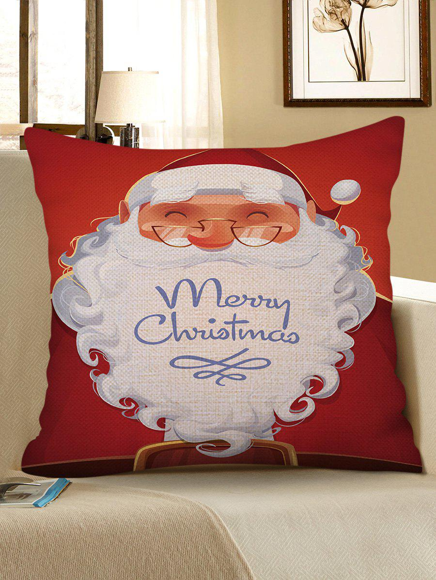 Hot Christmas Santa Claus Pattern Decorative Linen Pillowcase