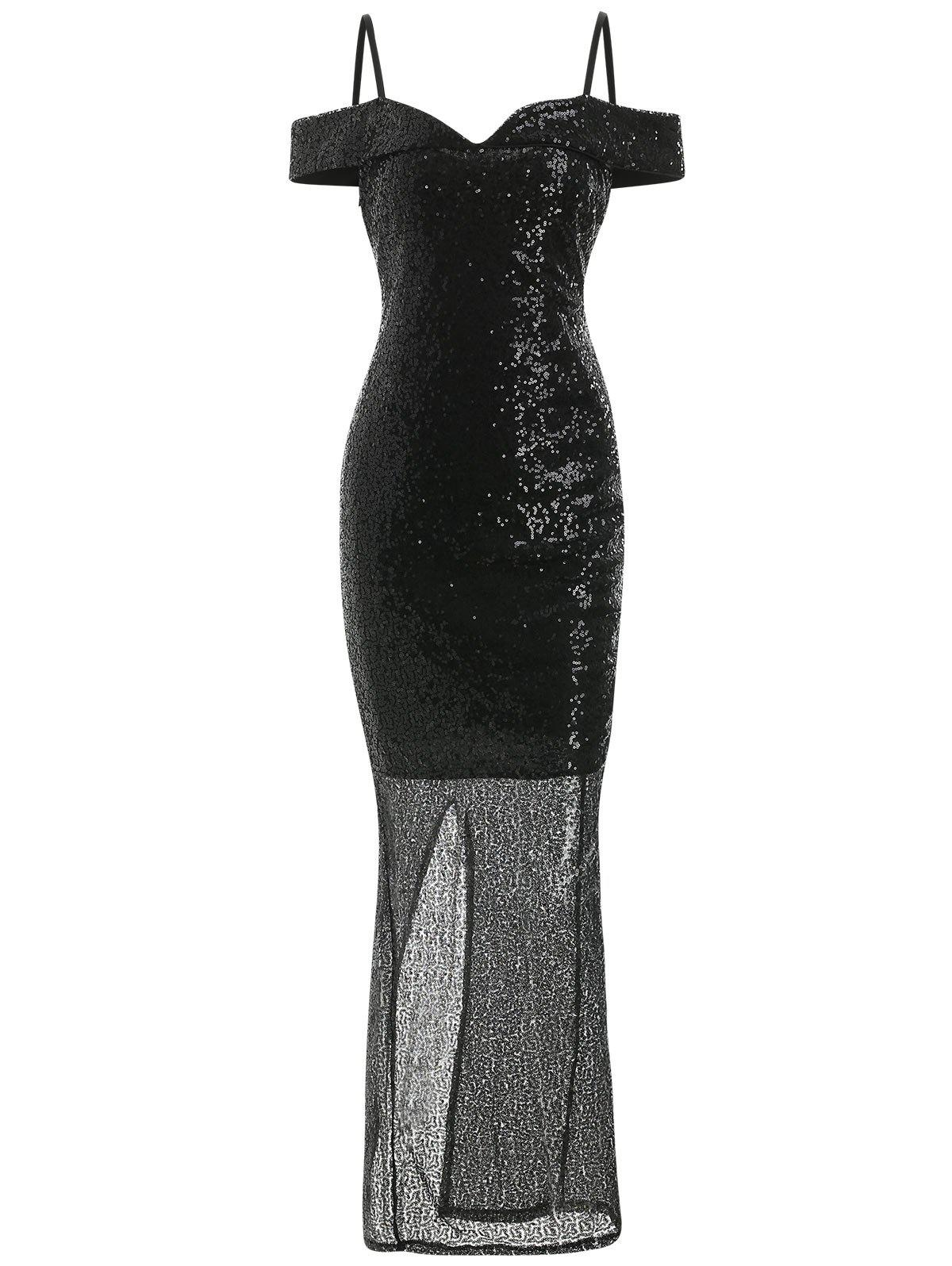 Robe de bal fourreau à sequins Maxi