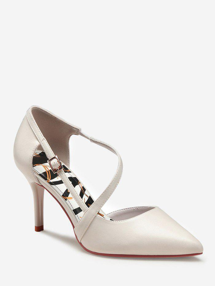 Outfits Pointed Toe Cutout Stiletto Heel Pumps