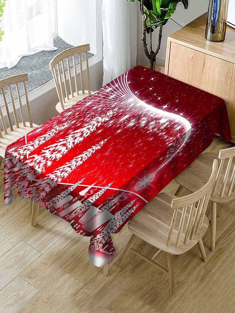 Cheap Christmas Forest Print Fabric Waterproof Tablecloth