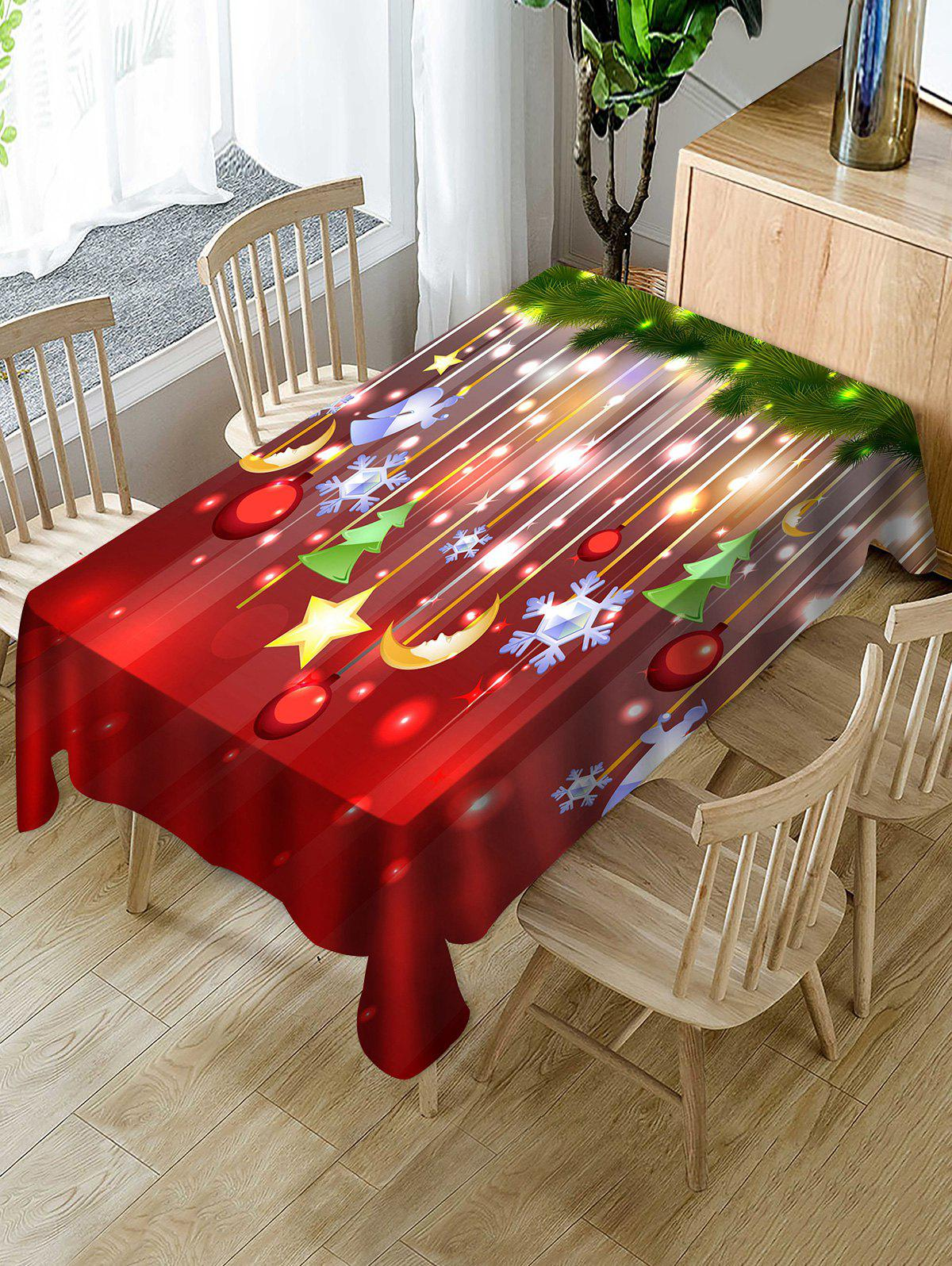 Latest Christmas Hanging Decorations Print Fabric Waterproof Tablecloth