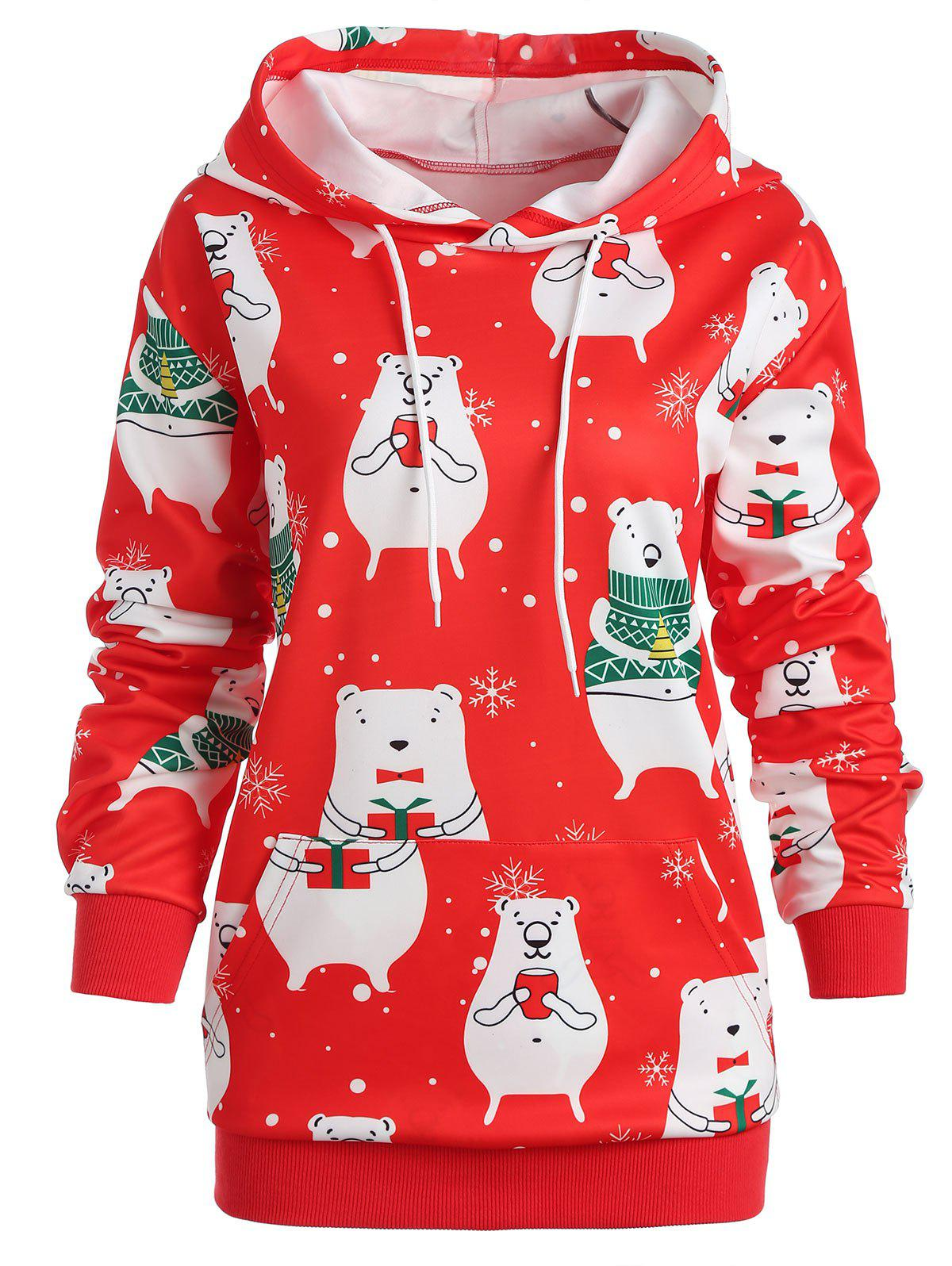 Outfits Plus Size Snowflake Christmas Hoodie