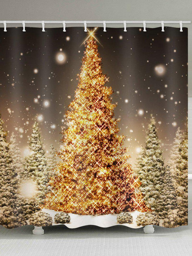 60 Off Christmas Tree Forest Print Waterproof Shower