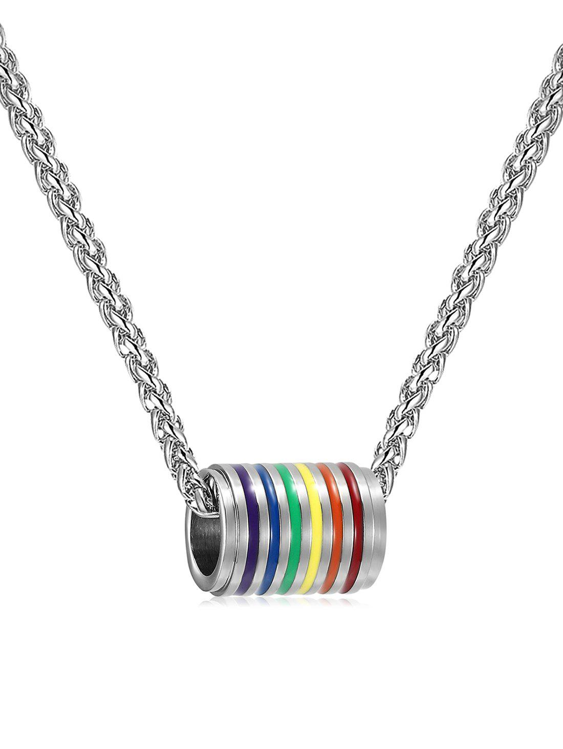 New Colored Cylinder Alloy Pendant Necklace