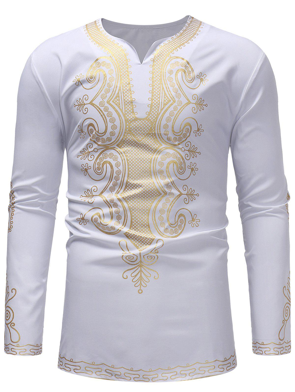 Store Ethnic Print Long Sleeve T-shirt