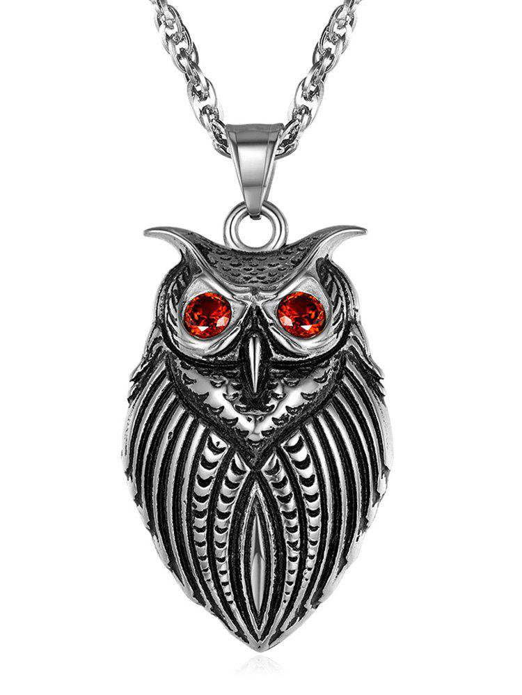 Latest Alloy Owl Pendant Necklace