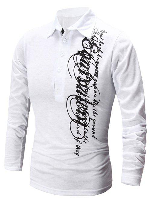 Affordable Casual Letter Print Polo Collar Shirt