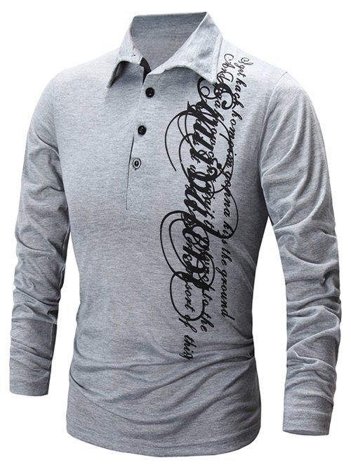 Best Casual Letter Print Polo Collar Shirt