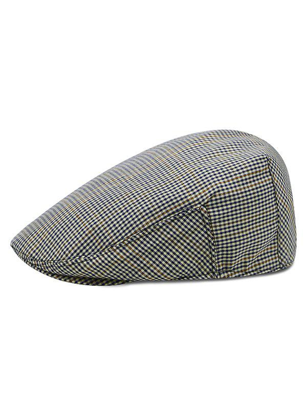 Chic Houndstooth Pattern Newsboy Hat