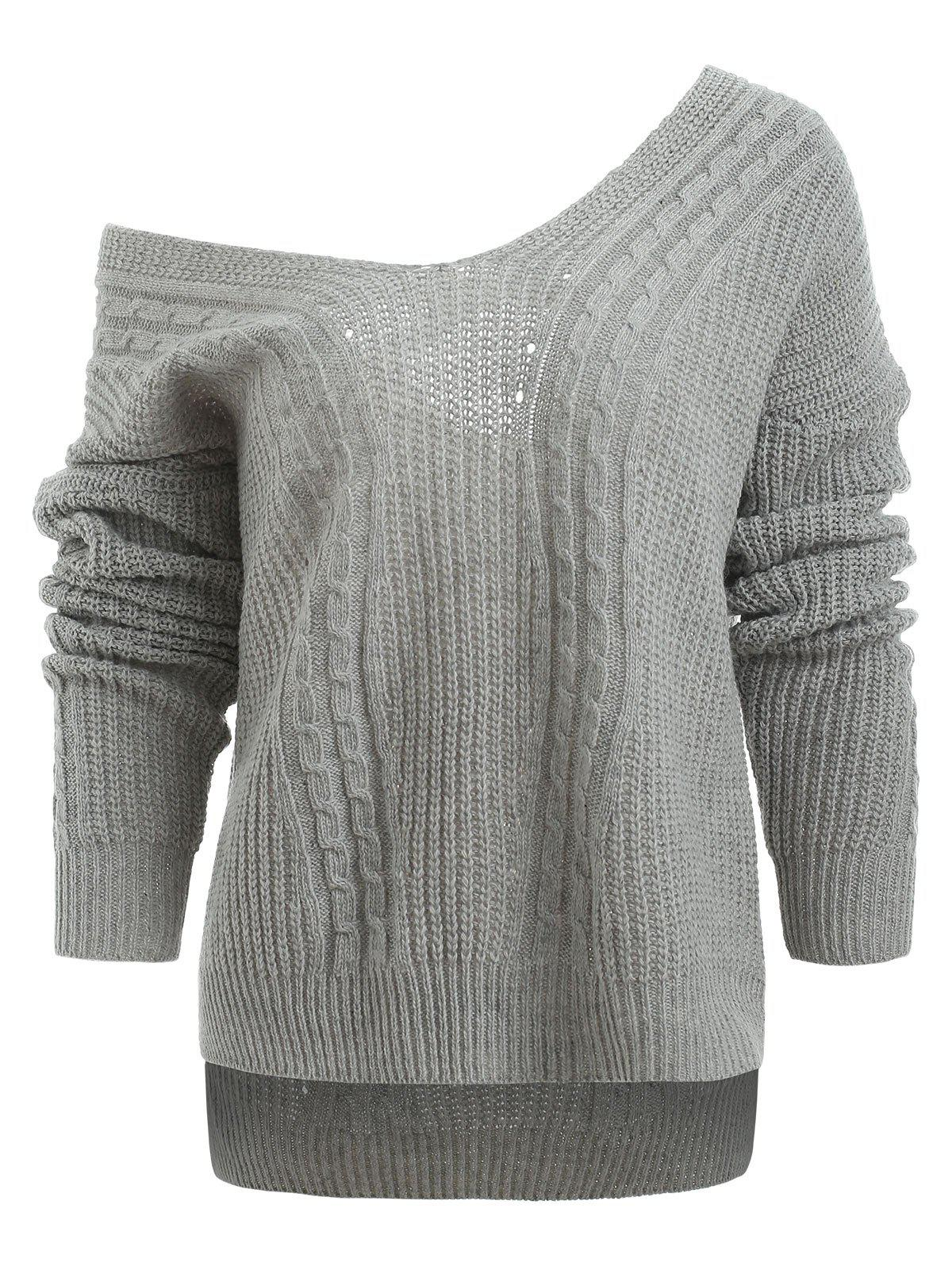 New Drop Shoulder Hemp Flower Sweater