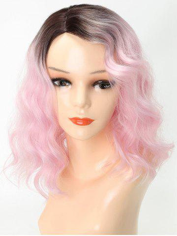 Medium Side Parting Ombre Wavy Cosplay Party Synthetic Wig