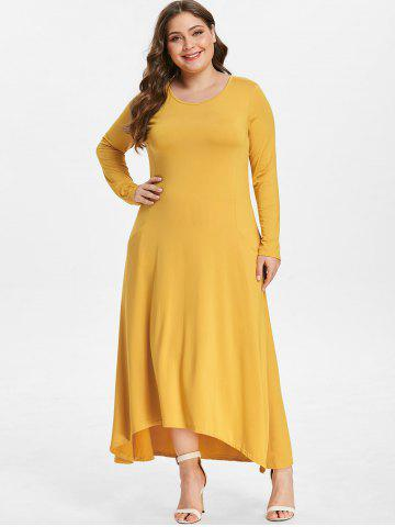 Front Pockets Plus Size High Low Dress