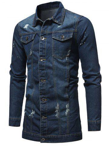 Slim Fit Button Fly Denim Jacket