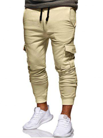 Multi Pocket Design Drawstring Jogger Pants