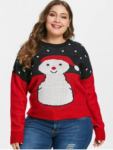plus size christmas snowman sweater