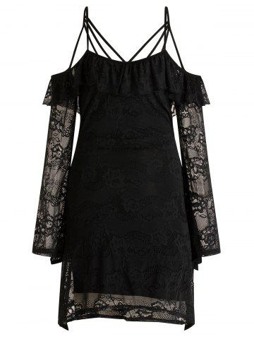 Strappy Cold Shoulder Lace Dress