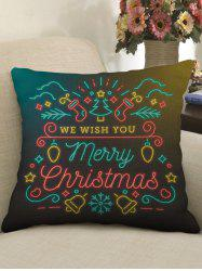 Merry Christmas Theme Print Decorative Sofa Linen Pillowcase -