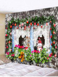 Christmas Theme Print Tapestry Wall Hanging Decoration -