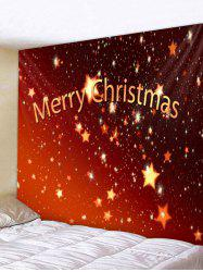 Merry Christmas Stars Print Tapestry Wall Hanging Decoration -