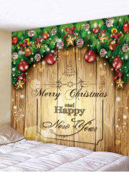 Merry Christmas Print Tapestry Wall Hanging Decoration -