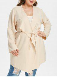 Plus Size Draped Coat -