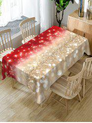 Christmas Star Light Fabric Waterproof Table Cloth -