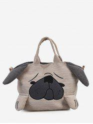 Dog Pattern Large Capacity Handbag -
