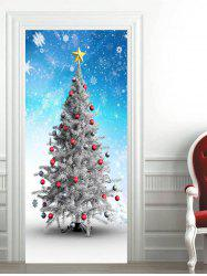 Snowflakes Christmas Baubles Star Printed Door Stickers -