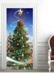 Christmas Tree Baubles Star Pattern Door Stickers -