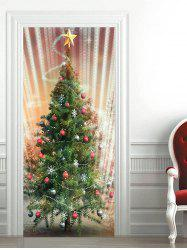 Sparkly Christmas Tree Baubles Pattern Door Stickers -