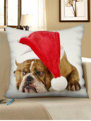 Christmas Dog Pattern Pillow Case -