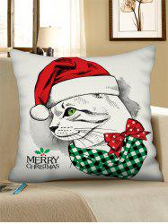 Christmas Leopard Drawing Figure Printed Pillow Case -